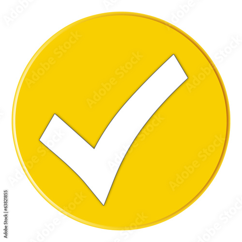 Button - Checksymbol - yellow - g827
