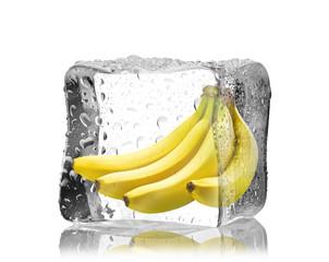 Banany w  kostce lodu