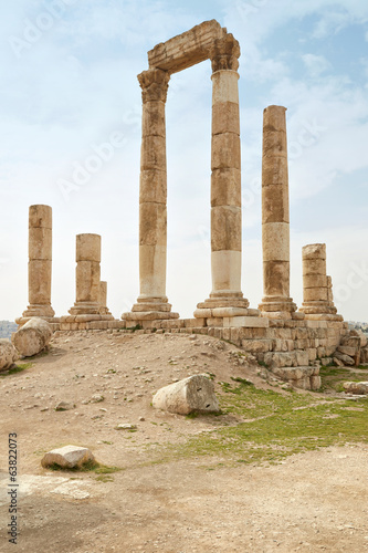 Temple of Hercules on the Amman citadel, Jordan