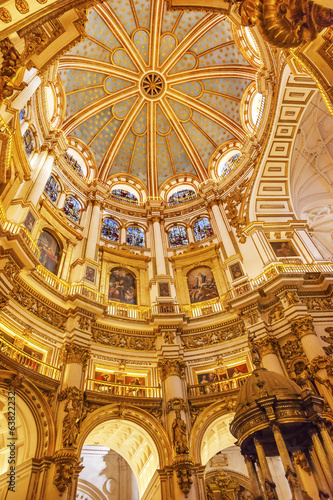 Basilica Dome Stained Glass Cathedral Andalusia Granada Spain