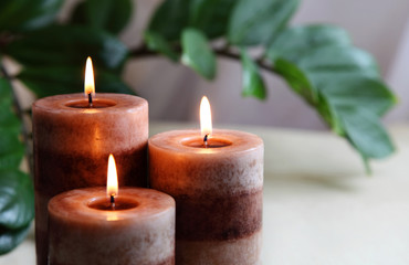Spa concept candle