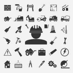 Vector of Construction Icons Big set
