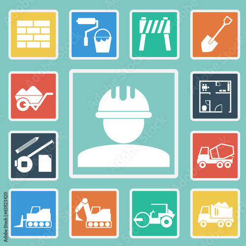 Vector of Construction Icons set