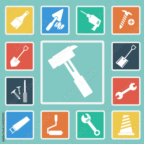 Vector of Construction Tools Icons set