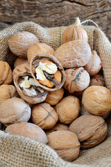 nuts in sack