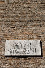 Musei Vaticani plate