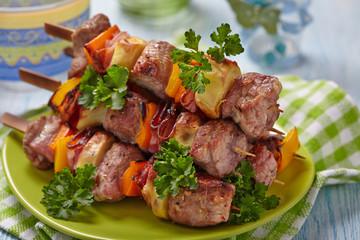Delicious pork kebab