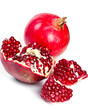 fresh pomegranate isolated on white background