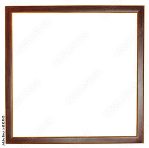 narrow flat square dark brown wooden picture frame