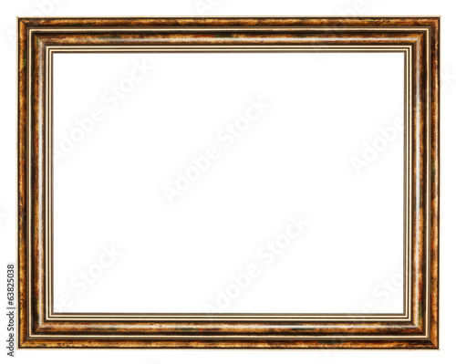 vintage classic brown wide wooden picture frame