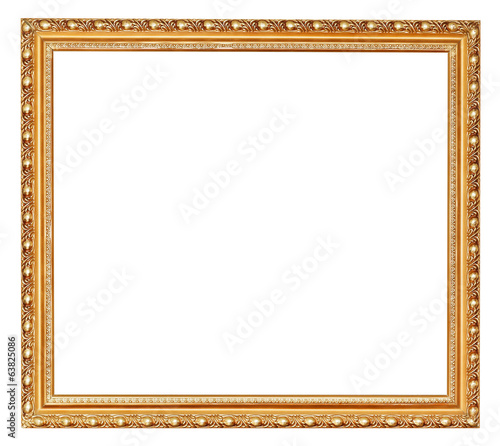 golden ancient wooden picture frame