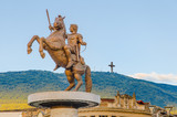 Warrior on a Horse statue (Alexander the Great), Skopje poster