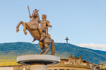 Warrior on a Horse statue (Alexander the Great), Skopje