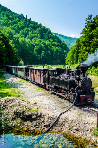 Mocanita train in Vaser Valley, Maramures