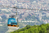 Aerial view of cable car on Vodno mountain, Skopje, Macedonian poster