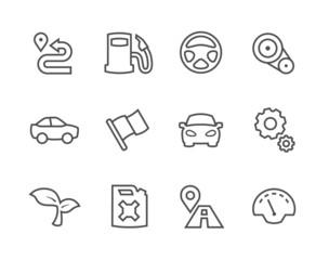 Stroked Auto icons