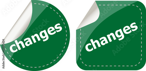 changes stickers set, icon button isolated on white