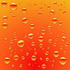 bubble gas orange water background