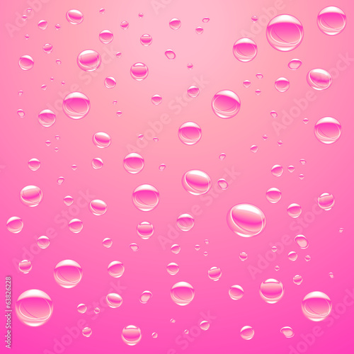 bubble gas water background pink