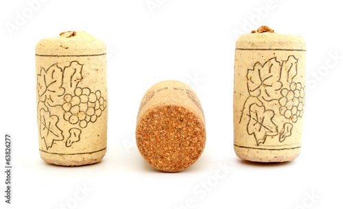 Three wine corks