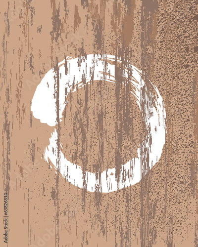 Zen Buddhism symbol wood texture background
