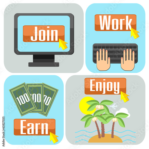 Concept of online work