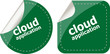 cloud application stickers label tag set isolated