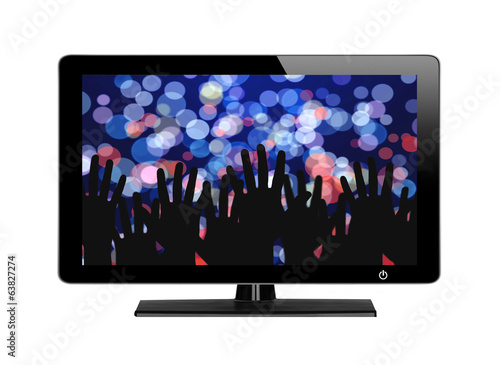 Modern TV screen Festive lights