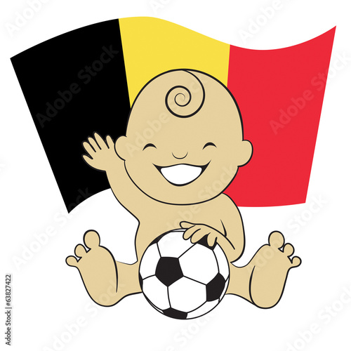 Baby Soccer Boy with Belgium Flag