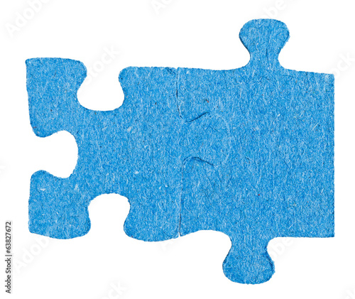 two connected jigsaw puzzle pieces