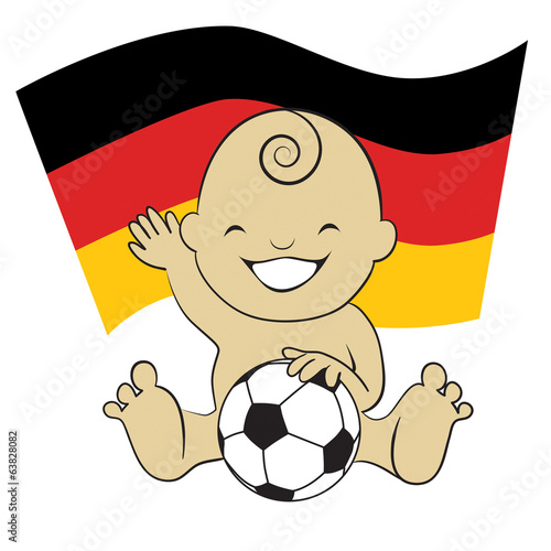 Baby Soccer Boy with German Flag
