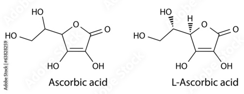 Structural chemical formula of ascorbic acid