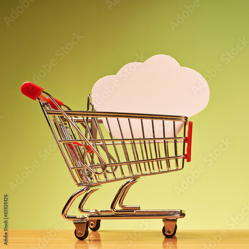 Cloud shape inside shopping cart