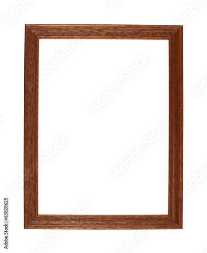 A4 size photo frame isolated