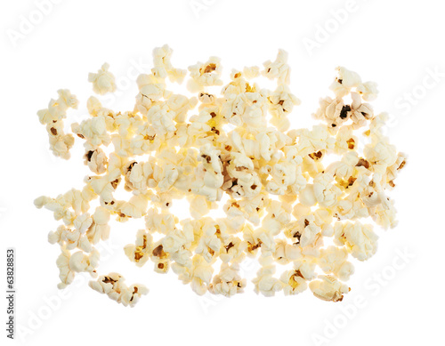 Pile of popcorn isolated