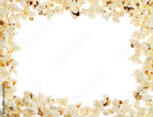 Frame made of popcorn