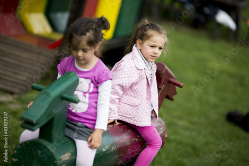 Little girls at the playground