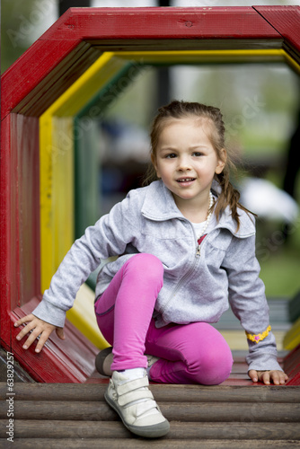 Little girl at the playground