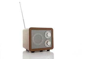 Retro style mini radio player