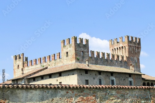 canvas print picture architectural detail of the ancient castle in Italy