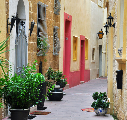 Typical patio in Malta