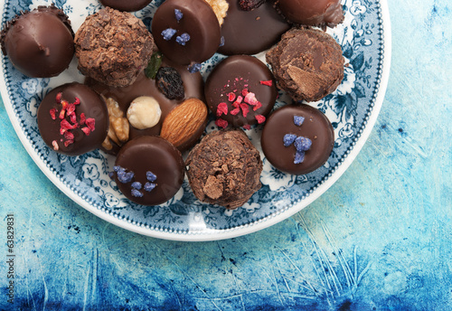 Assortment chocolates
