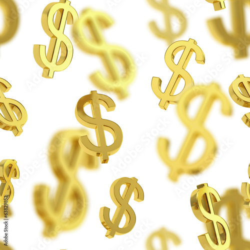 Seamless background made of dollar signs