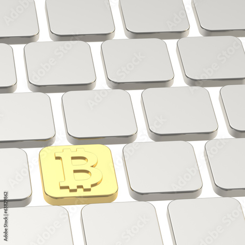 Bitcoin keyboard button composition