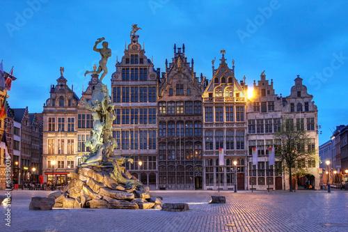 Fotobehang Antwerpen Grote Markt, Antwerp, Belgium