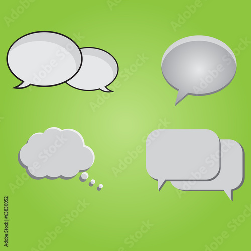 Set Of Text Bubbles