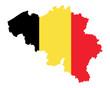 Karte und Fahne von Belgien
