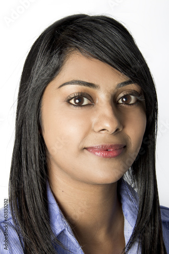 Pretty young Indian Woman in work clothes