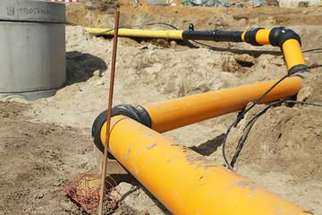 Kanalrohr im Boden