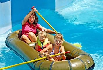Family ride rubber boat.